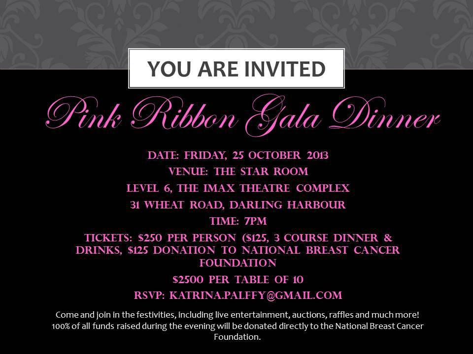 Breast Cancer Gala Dinner