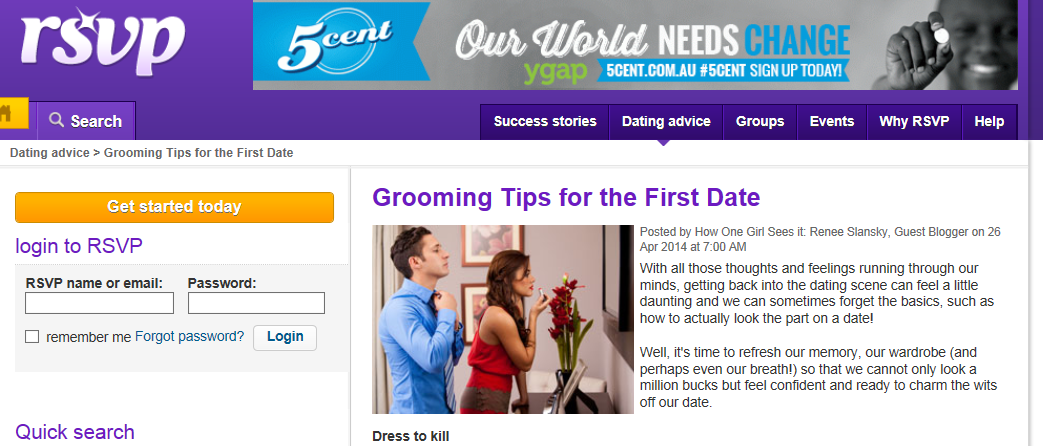 rsvp grooming tips media