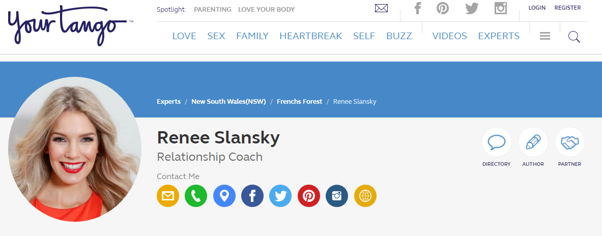 Renee joins Your Tango as an Expert - The Dating Directory