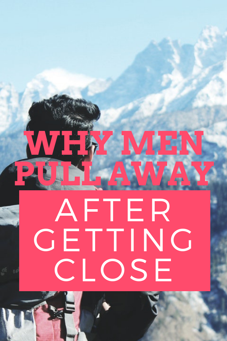 men pull away after getting close