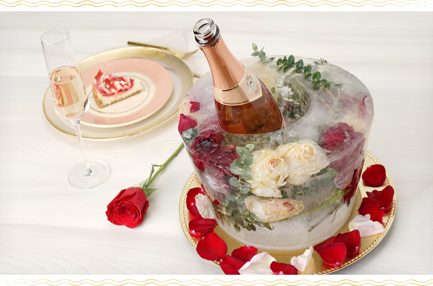 How To Make A Floral Ice Bucket For Valentine S Day The Dating Directory